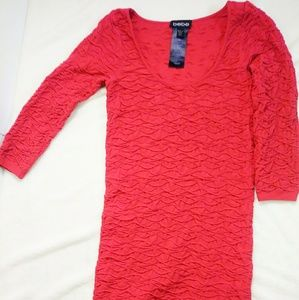 BeBe Red Ruched Dress